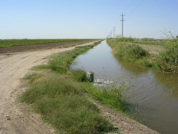 Open ditch canal - a surface water source  Photo:  L. Schwankl